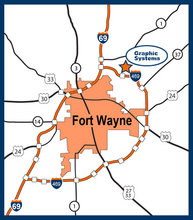 Map of Fort Wayne Indiana